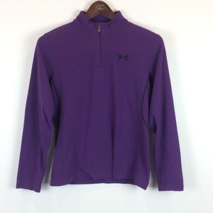 Under Armour Purple Fleece Size Small 1/4 Zip